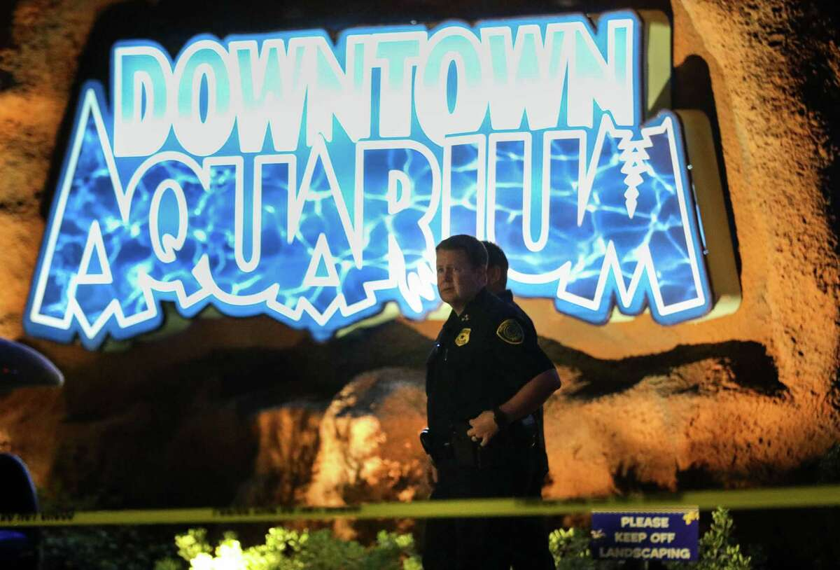Houston Police Executive Chief Matt Slinkard walks to brief reporters at the scene of a shooting Thursday, July 8, 2021, at the Downtown Aquarium restaurant, in the 400 block of Bagby in Houston.