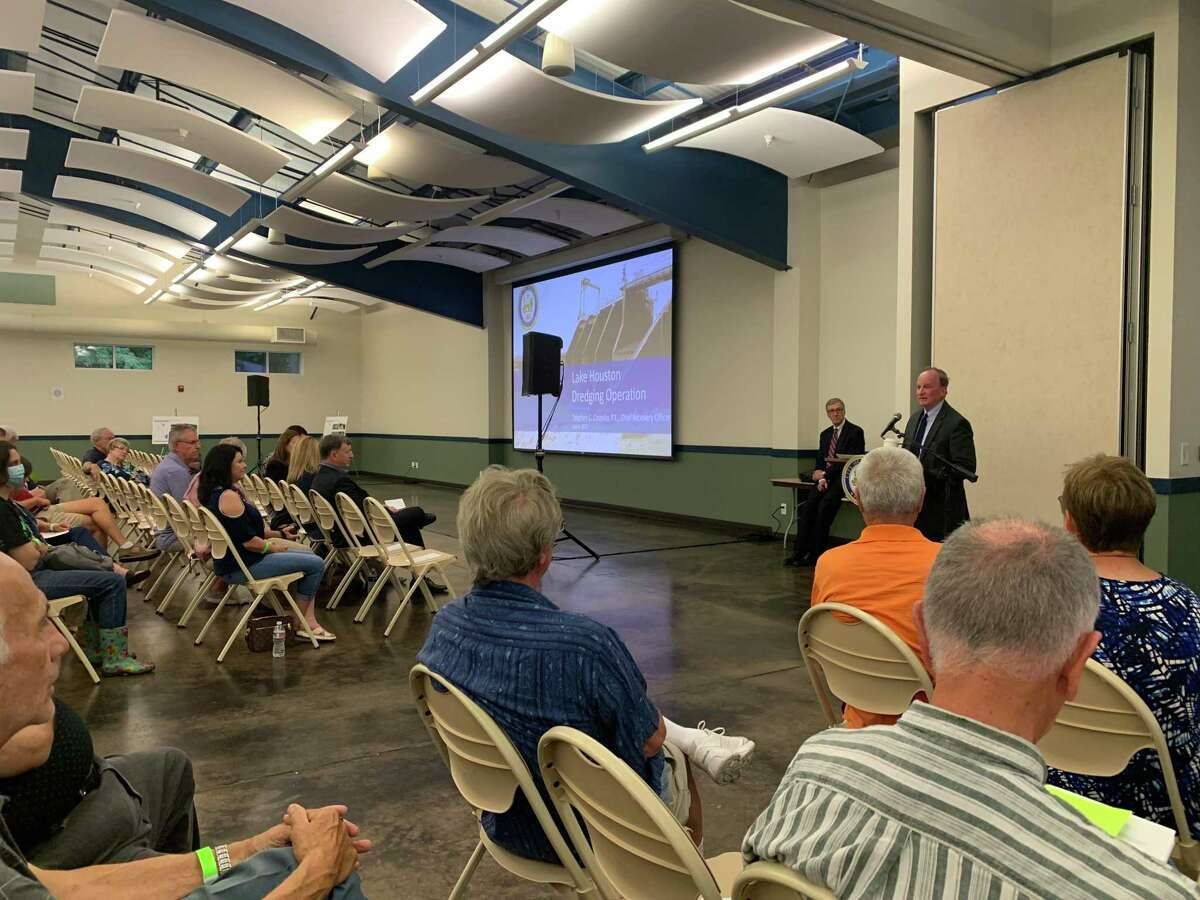 Mayor Pro Tem and District E Councilmember Dave Martin held a community meeting on July 8 about the Lake Houston Dam Spillway Improvement Project at the Kingwood Community Center.