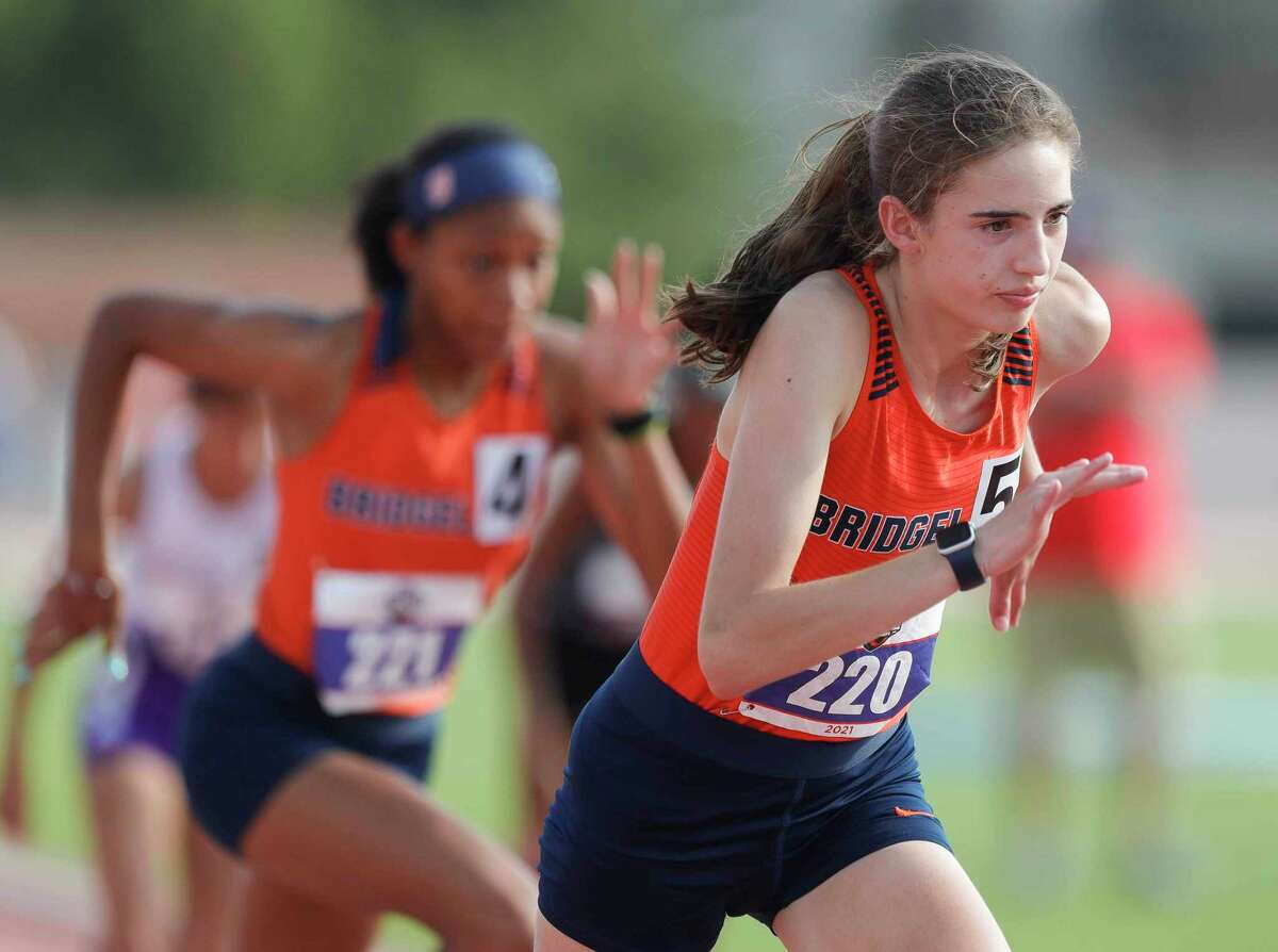 The University Interscholastic League reveled the winners of the 2020-21 Lone Star Cup, the organization in a news release July 1. Bridgeland placed in the top 25 in conference 6A. Bridgeland's Emily Ellis, right, and Eliana Lake compete in the girls 800-meter run during the Class 6A UIL Track and Field Championships at Mike A. Myers Stadium, Saturday, May 8, 2021, in Austin.