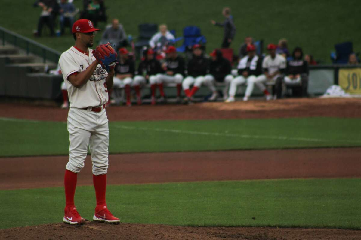 Loons pitcher Jesus Vargas prepares to pitch against Lansing on July 8 at Dow Diamond