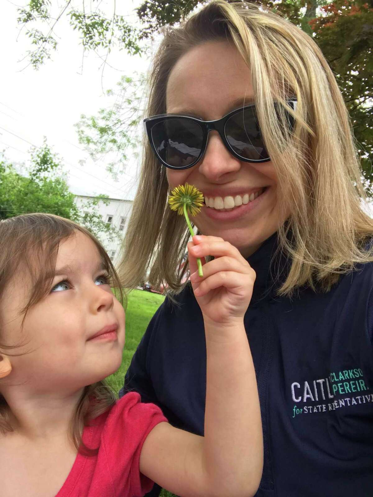 Caitlin Clarkson Pereira, an education professional, author, and mother of 3-year old Parker, ran to represent the 132nd district in Connecticut's House of Representatives. She pushed for campaign funds to be allowed to pay for child care.