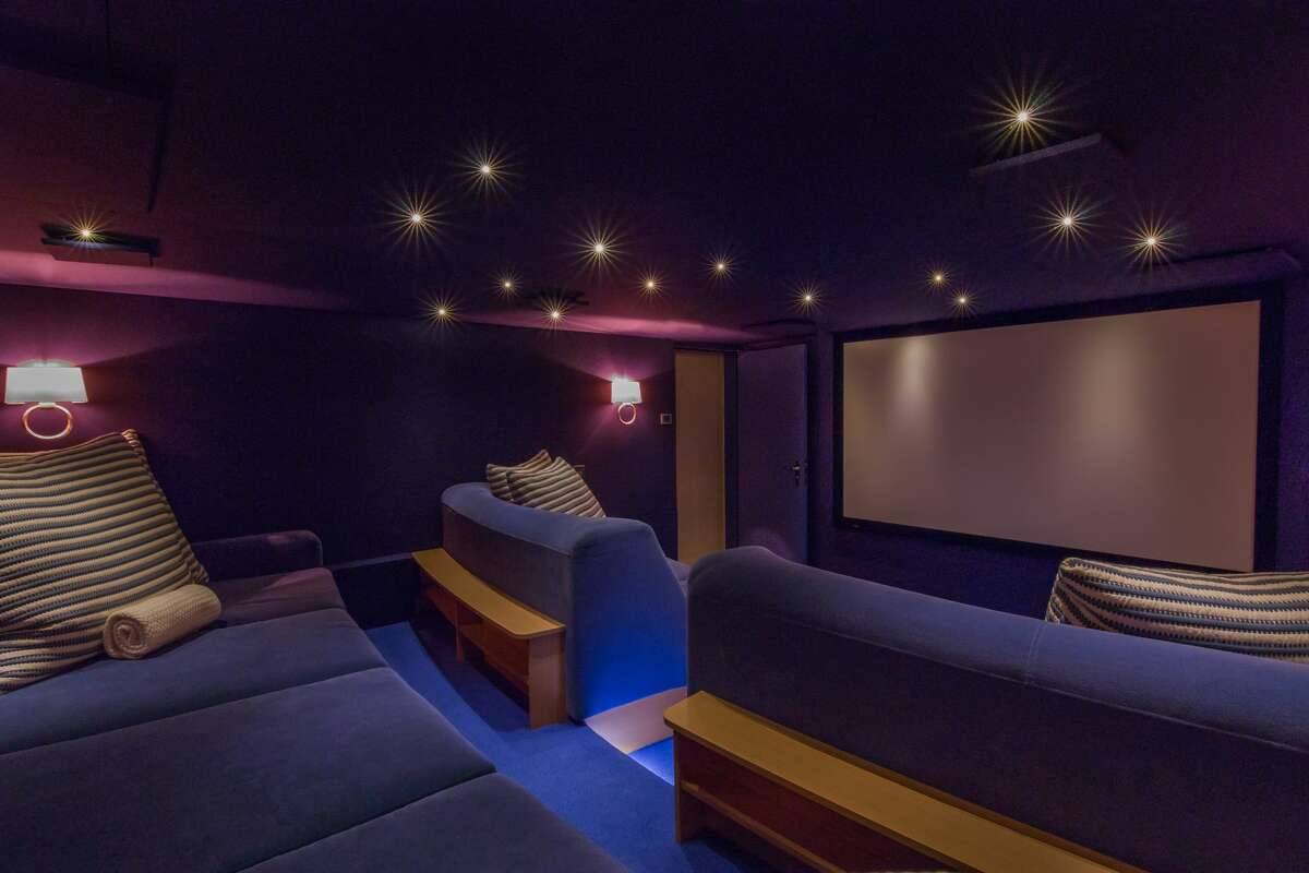 """A screening room on board the Huntress elevates a """"Netflix and chill"""" night."""