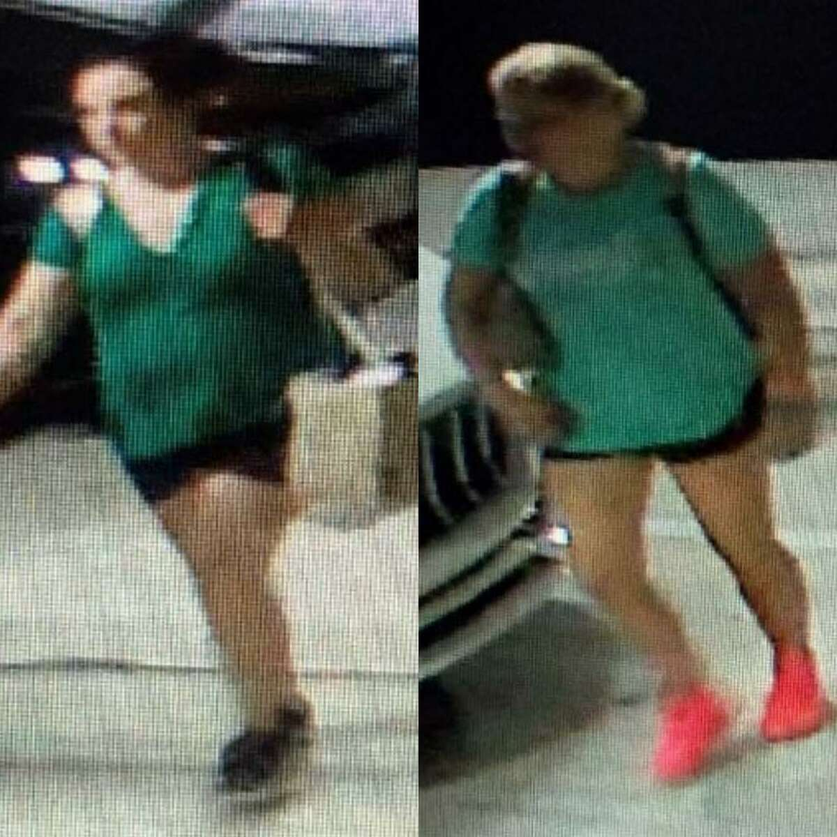 Surveillance captured images of two females authorities are saying are responsible for multiple vehicle burglaries at a parking garage in Spring.