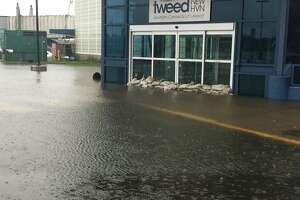 Flooding at Tweed New Haven Airport July 9, 2021