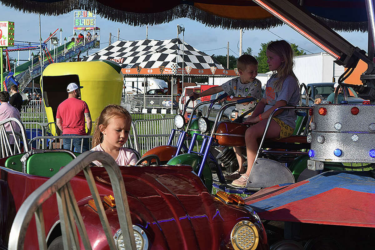 Carnival rides are a big draw for children and adults alike at the Morgan County Fair.