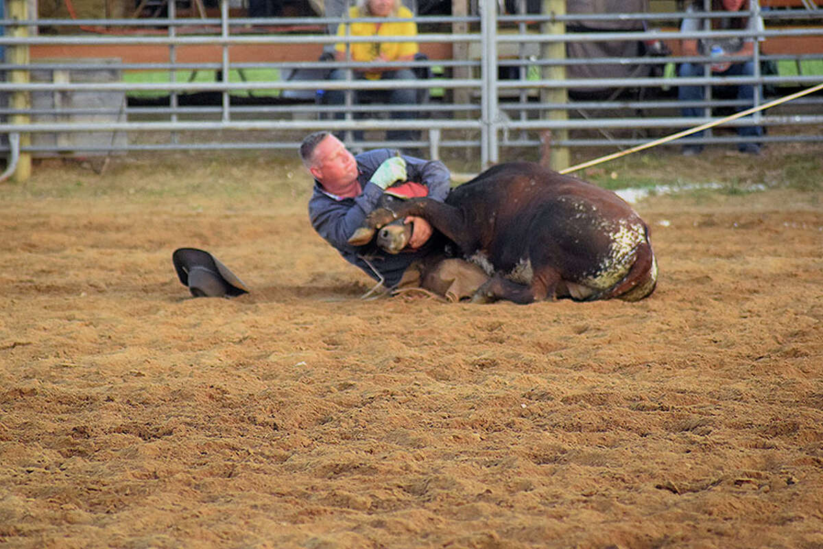 Scenes from the Ranch Hand Rodeo competition at the Morgan County Fair.