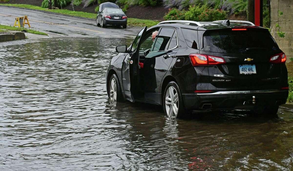 Flooding on Meadow Street.