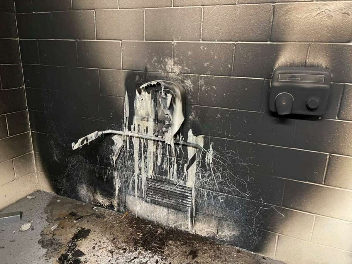 Restrooms at Lakeside Park in The Woodlands have been set on fire three times since early January, causing significant damage.