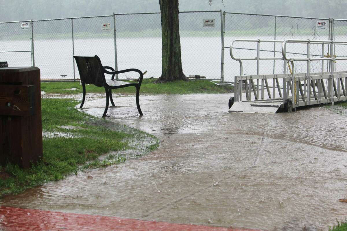 Localized flooding from Tropical Storm Elsa in Middletown on Friday