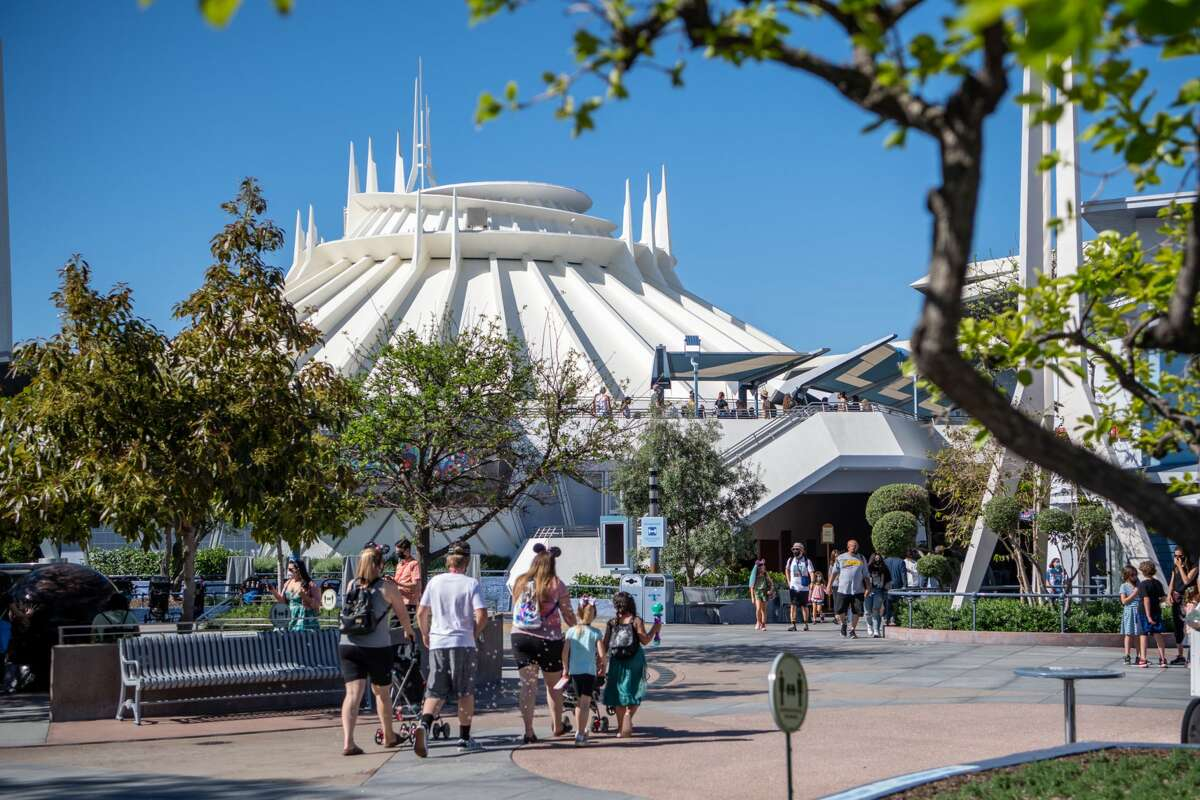 Space Mountain in Disneyland Park in Anaheim, Calif. Disneyland Paris' version of the ride is one that will have a paid Fast Pass option.