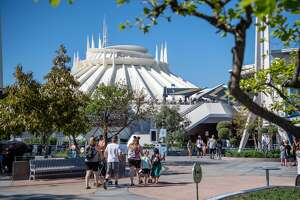 Space Mountain in Disneyland Park in Anaheim, California. Disneyland Paris's version of the ride is one that will have a paid Fast Pass option.