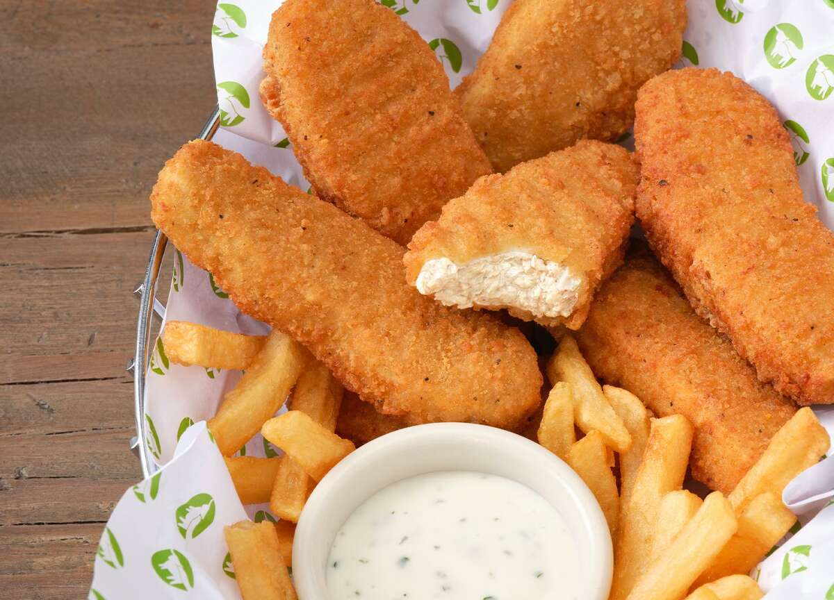 Beyond Meat's newly launched plant-based chicken tenders are available at two Bay Area restaurants
