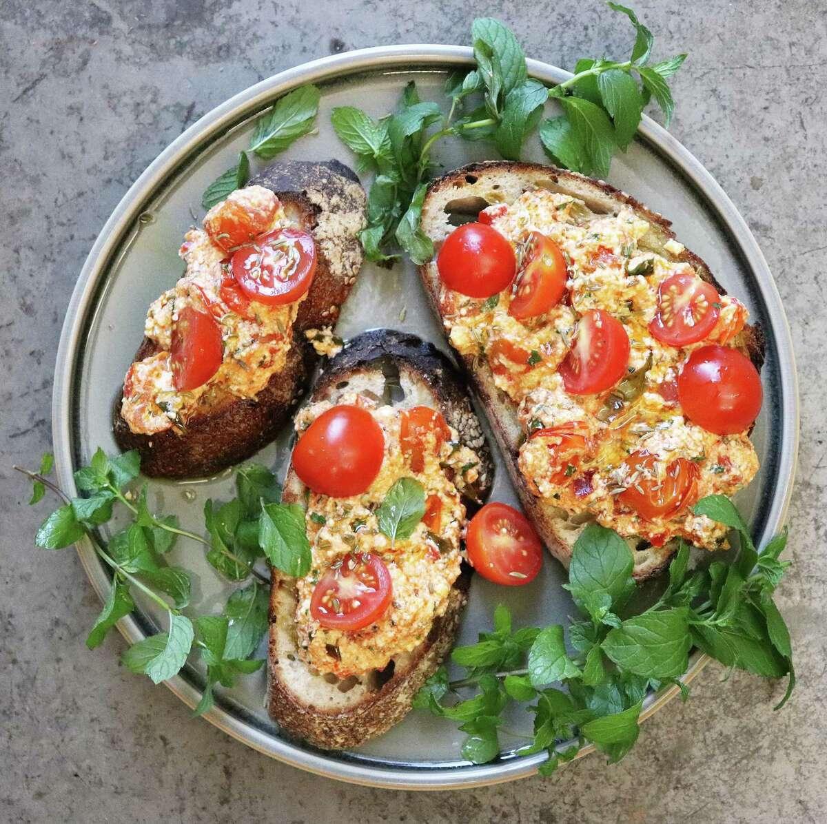 Tomato Ricotta Toast is a delightful seasonal breakfast or appetizer.