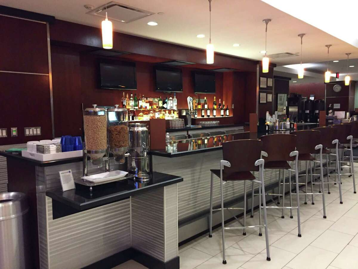 A view of the United Airlines United Club inside Terminal B at San Antonio International Airport.