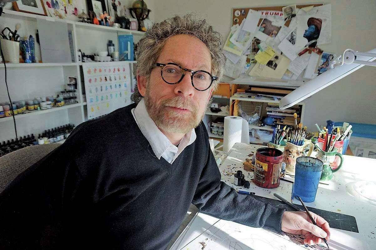 Barry Blitt, New Yorker political cartoonist and a Roxbury resident.