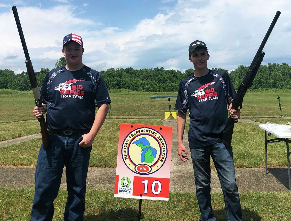 Joe MacFarlane (left) and Connor Thomas were among the local participants in the state competition. (Courtesy photo)