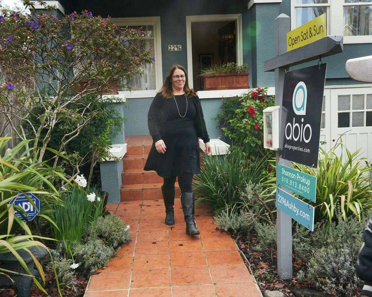 Real estate agent Shannon Prokup visits a Berkeley home she listed in January 2020. As home prices across the country skyrocket, Bay Area cities still rank among the most expensive.