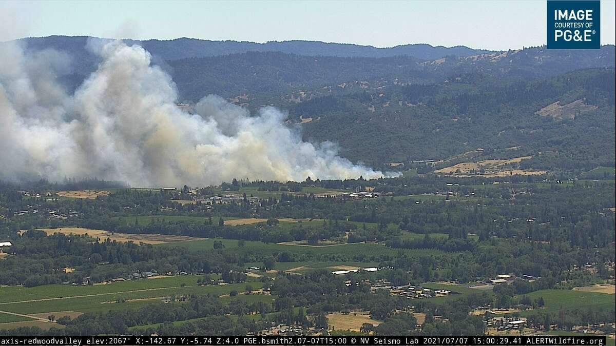 The Broiler Fire started near Redwood Valley in Mendocino County on July 7, 2021.
