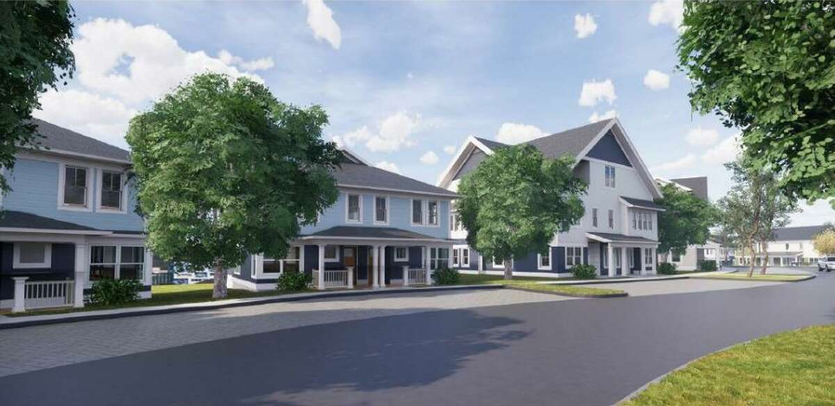 A rendering shows a planned 69-unit expansion of the Norwalk Housing Authority's Colonial Village development.