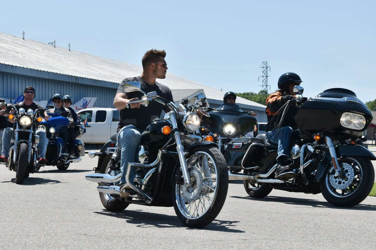 Staging for Thunder at the River started at Manistee VFW Walsh post #4499 on Friday afternoon where riders went from the post to Little River Casino Resort.