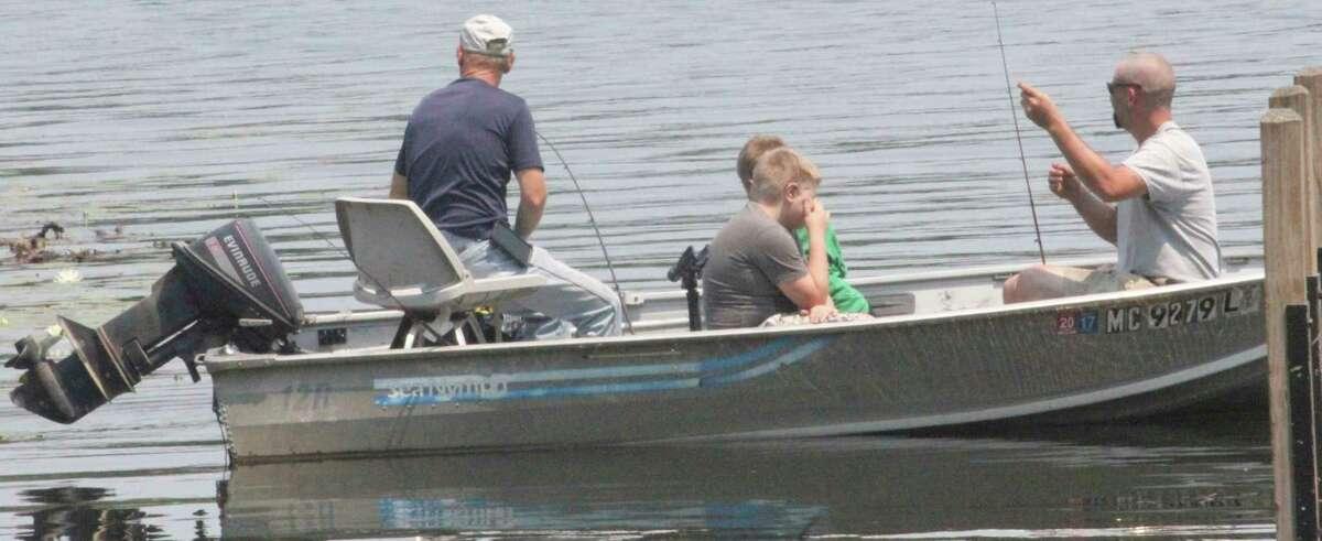 Anglers test their luck last Saturday at Clear Lake.(Pioneer photo/John Raffel)