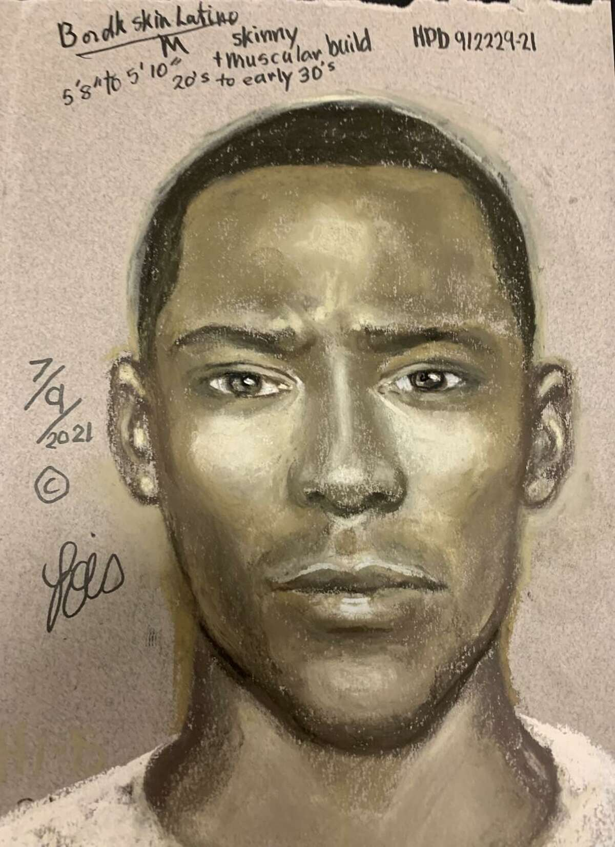 Houston police released a sketch of the suspect in a July 6 road rage shooting in which 17-year-old David Castro was killed on the way home from a Houston Astros game. Detectives are working to identify and locate the unidentified suspect.