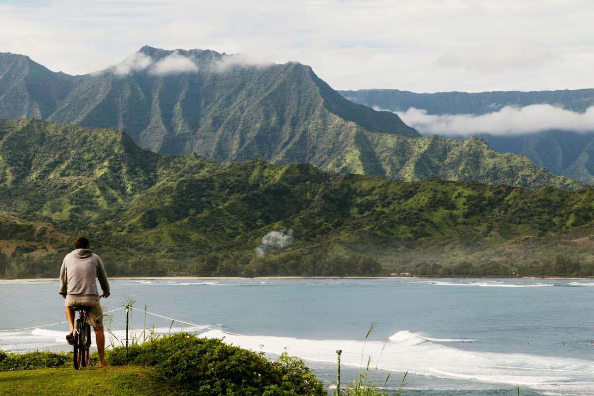 One of the best ways to explore Hanalei Bay in Kauai's North Shore is by bike.