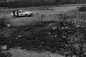 This burned spot outside La Madera, New Mexico, is where a truck driver said in 1964 that he saw a strange object spouting flames.
