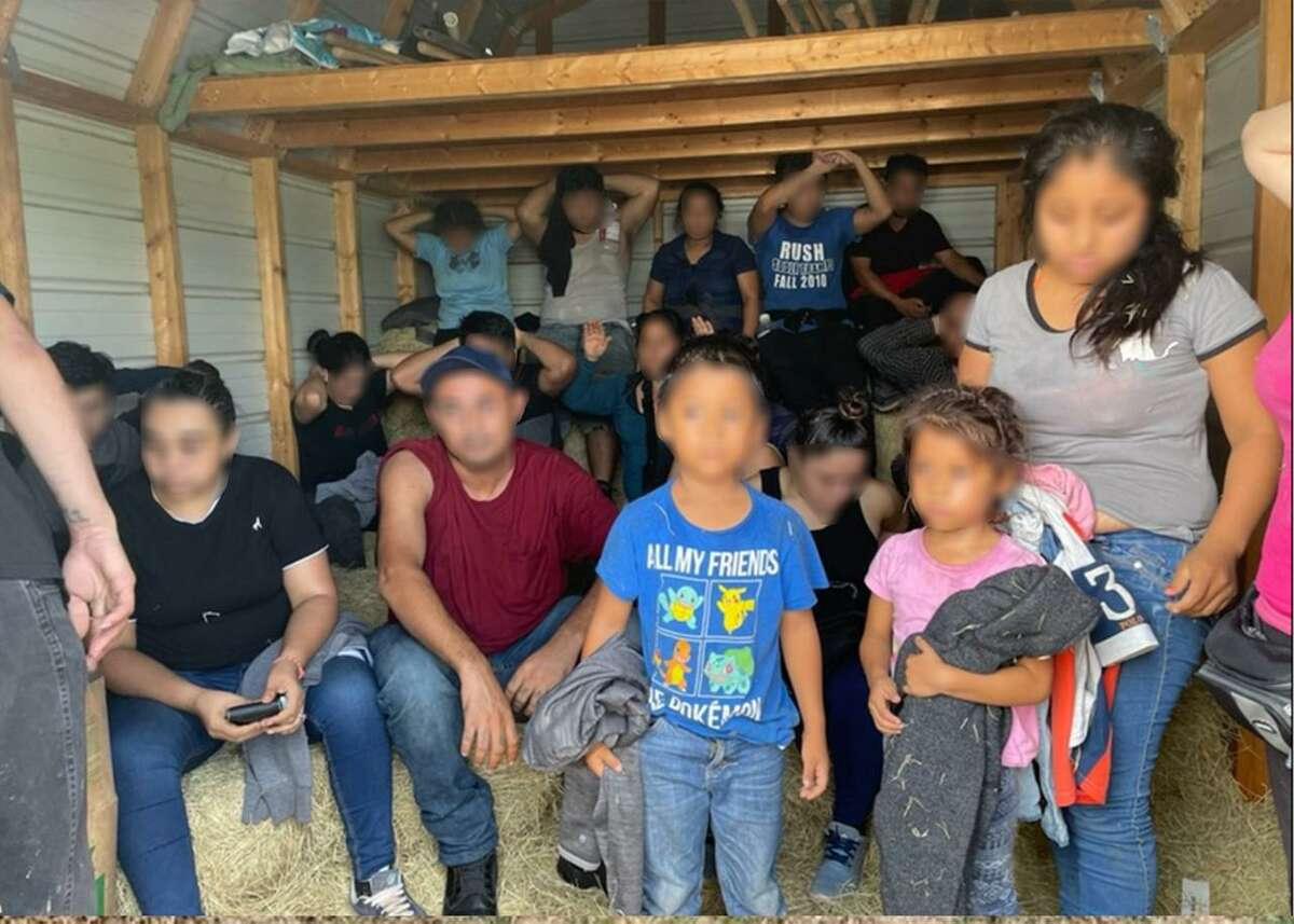 U.S. Border Patrol agents discovered 20 individuals inside a shed on a ranch property southwest of Hebbronville. All were determined to be migrants who were in the country illegally.