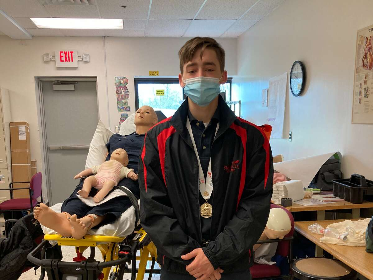 Jaxon Haigh of Hudson, an EMT student at Questar III's Columbia-Greene Educational Center, earned first place in CPR/First Aid in the national SkillsUSA Championship competition