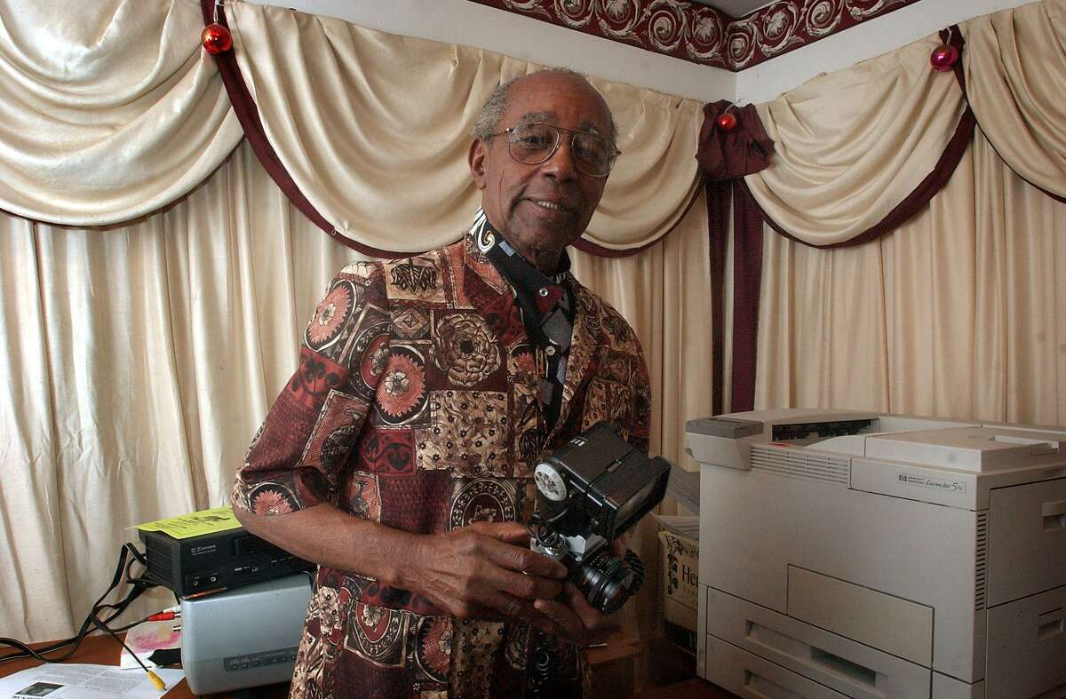 Eugene Coleman, seen in 2004, was a Renaissance man. He owned the city's first Black photography studio, was a stringer for Ebony magazine, tailor, restaurant owner, cook, singer, recording artist and political candidate.