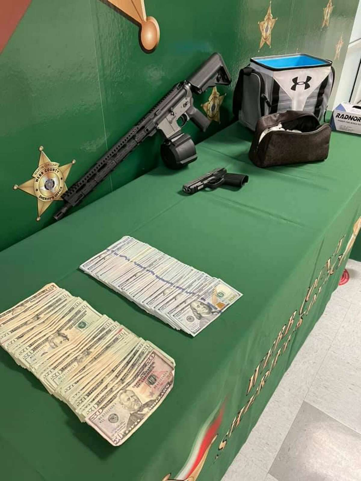 The Webb County Sheriff's Office along with Homeland Security Investigations raided a home in south Laredo that resulted in the seizure of cash, drugs and firearms. In addition, a man was arrested in connection with the case.