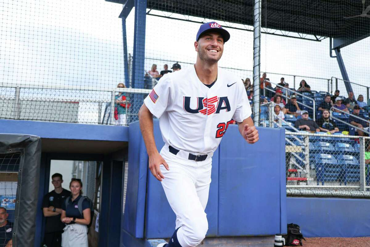 Harvard pitcher Adam Stone, a Stamford native and Fairfield Prep alum, is currently playing for the USA Baseball Collegiate National Team. June 2021