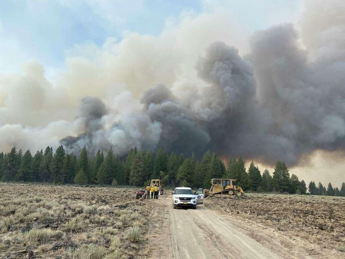 The Bootleg Fire burns in Oregon.