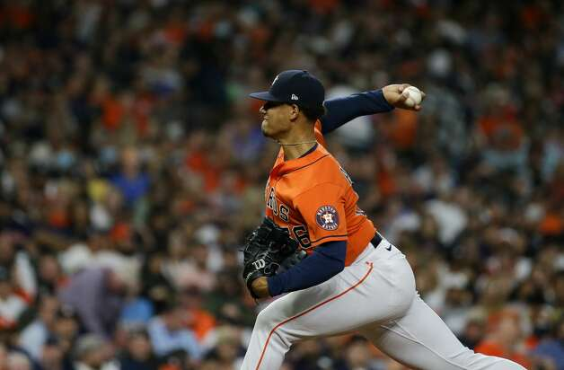 Houston Astros starting pitcher Bryan Abreu (66) throws a ball against the New York Yankees during the seventh inning of an MLB game at Minute Maid Park on Friday, July 9, 2021, in Houston. Photo: Godofredo A Vásquez/Staff Photographer / © 2021 Houston Chronicle