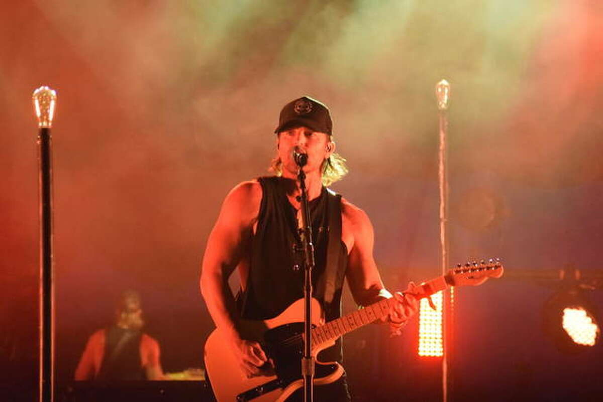 Country singer Kip Moore performs Friday at the Morgan County Fair.