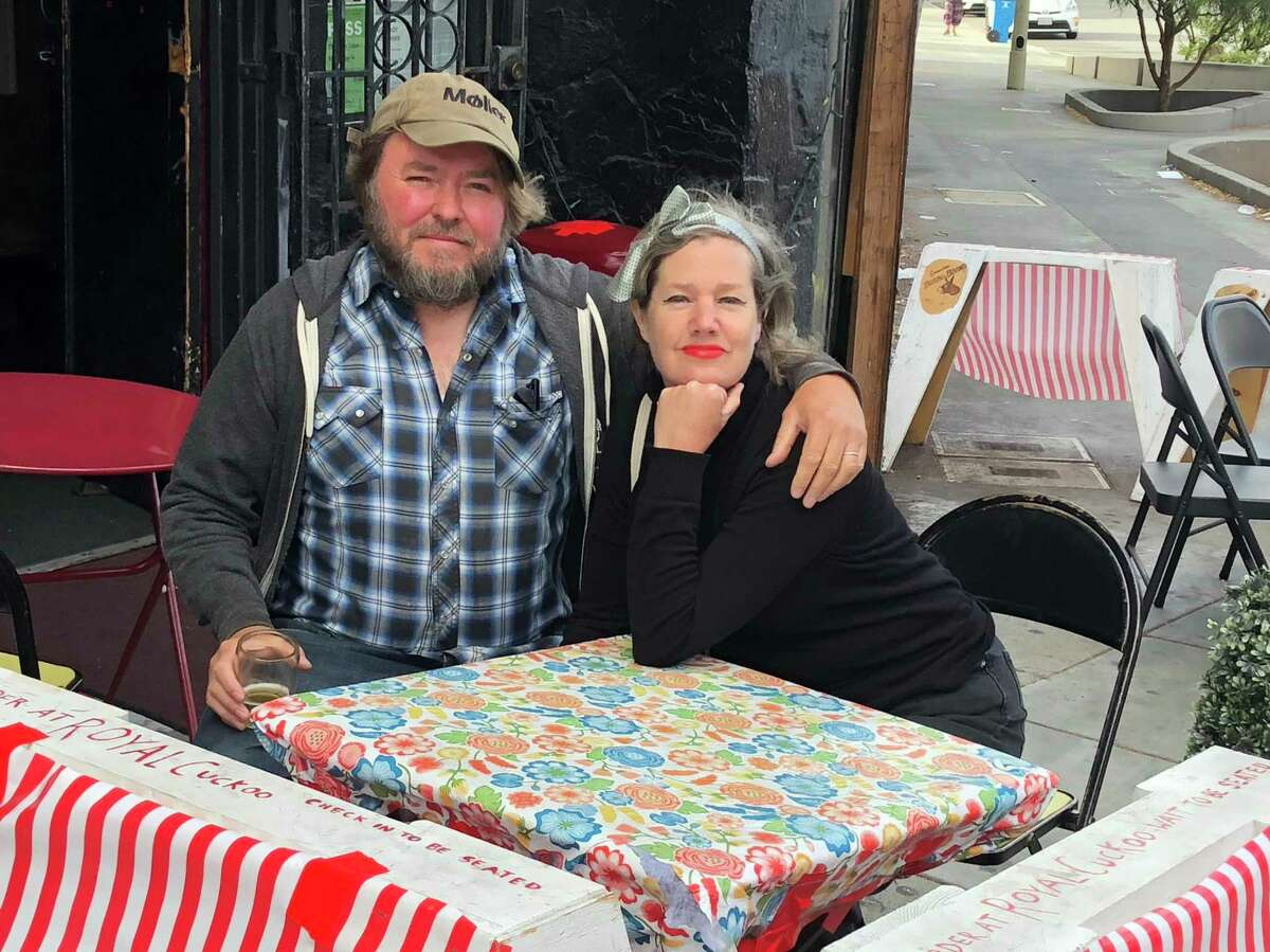 """Paul and Debbie Miller own the Royal Cuckoo bar in the far reaches of the Mission District. Paul Miller calls says it's """"a neighborhood place for everybody."""""""