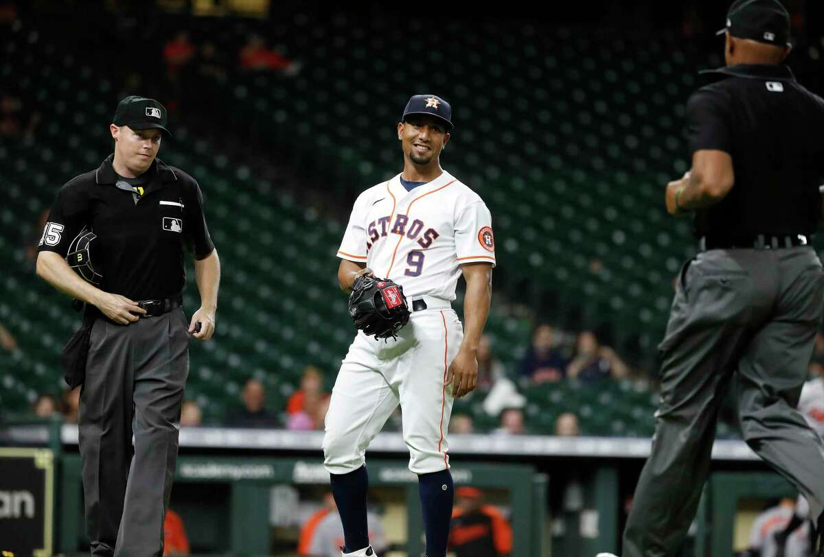 Even when a position player pitches, such as Robel Garcia did last month against the Orioles, he is subject to inspection by the umpires.