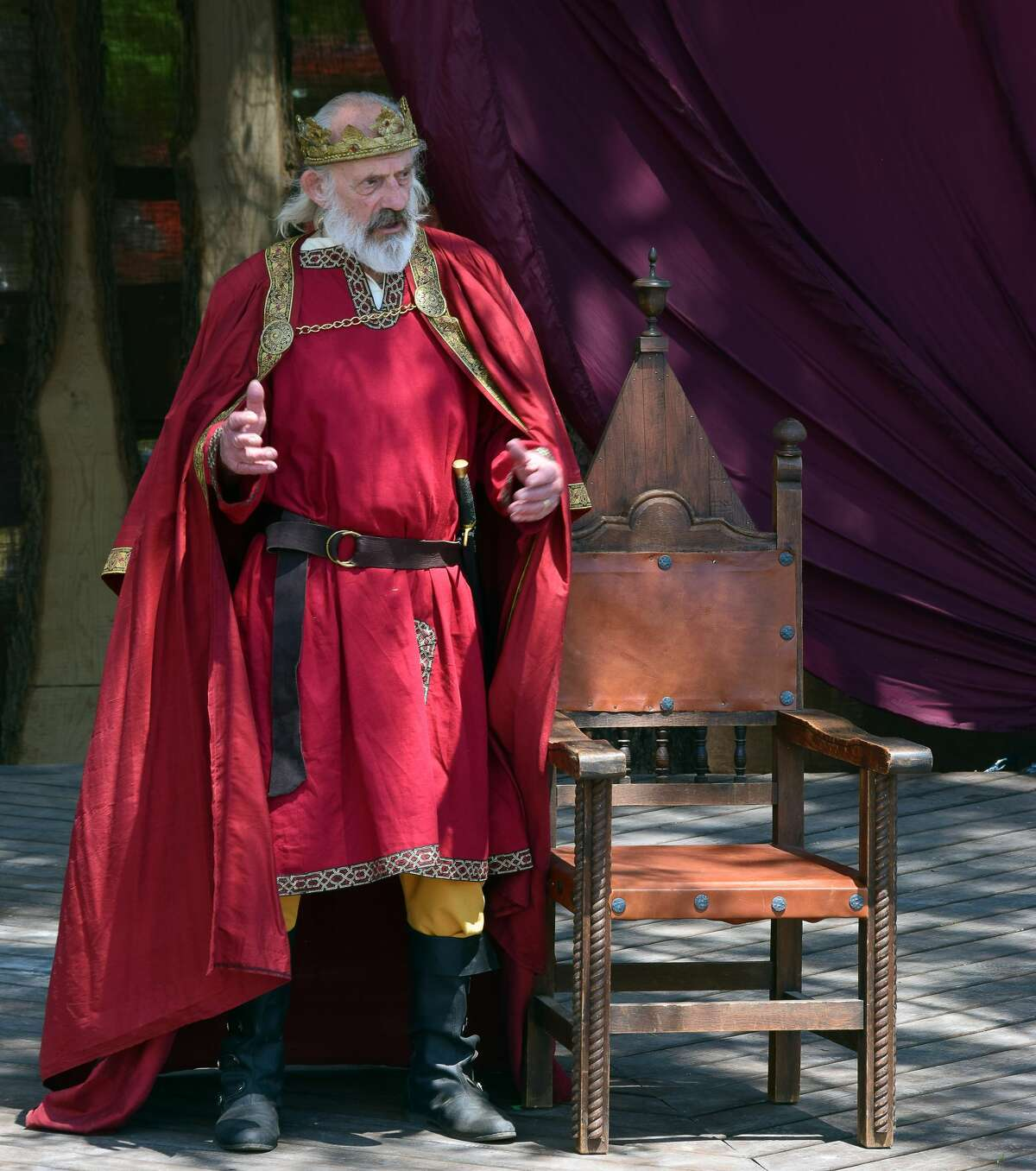 """Christopher Lloyd, known for the sitcom """"Taxi"""" and the """"Back to the Future"""" films, takes on the most monumental role of his career, playing the title character in Shakespeare & Company's """"King Lear,"""" running through Aug. 28, 2021, on the company's New Spruce Stage. (Katie McKellick/Shakespeare & Company)"""