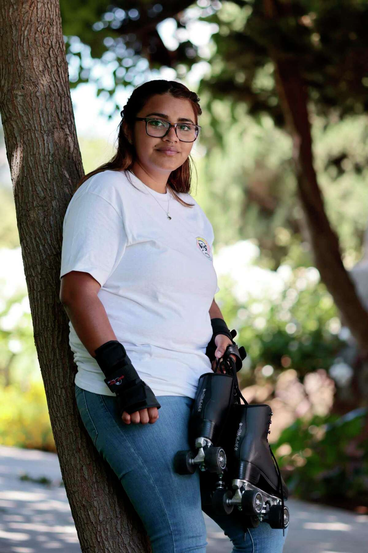 Veronica Vieyra, who graduated from San Jose State University in May, is one of 72 former foster youths who received monthly payments under a universal income pilot program in Santa Clara County.