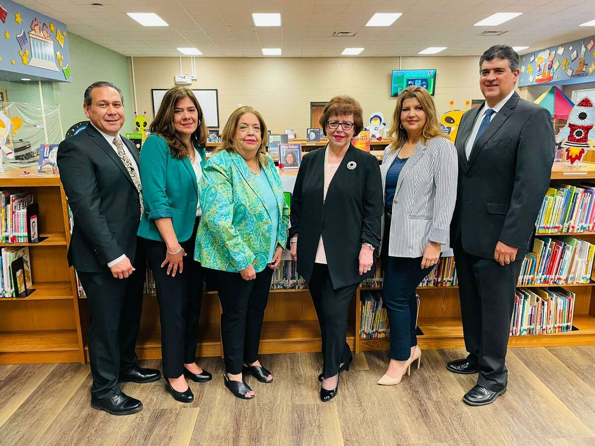 Laredo ISD administrators will be representing the district at the Holdsworth Center on Lake Travis outside of Austin. Pictured are Director of Secondary Education Jose Cerda, Federal Programs Administrator Oralia H. Cortez, Director of Elementary Education Myrtala Education, LISD Superintendent Dr. Sylvia G. Rios, Assistant Superintendent for Human Resources Dr. Bobbi Ramirez, and Assistant Superintendent for Curriculum and Instruction Dr. Gerardo Cruz.