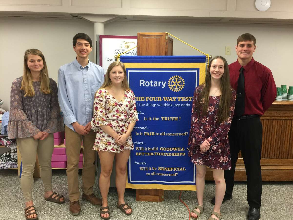 The Manistee Rotary Club awarded scholarships to six students in 2019: Ashley Walle, Anselmo Sarabia, Maggie Domres, Mariah McLouth, Jacob Riggs and Megan Huber. The club disbanded in June.