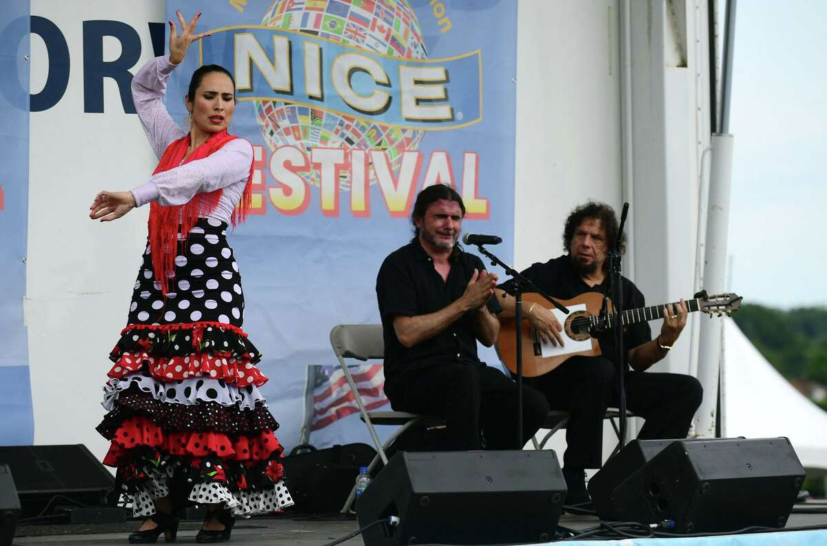 Yohanna Escamilia performs Flamenco on the Main Stage during the annual Nice Festival Saturday, July 10, 2021, at Oyster Shell Park in Norwalk, Conn.