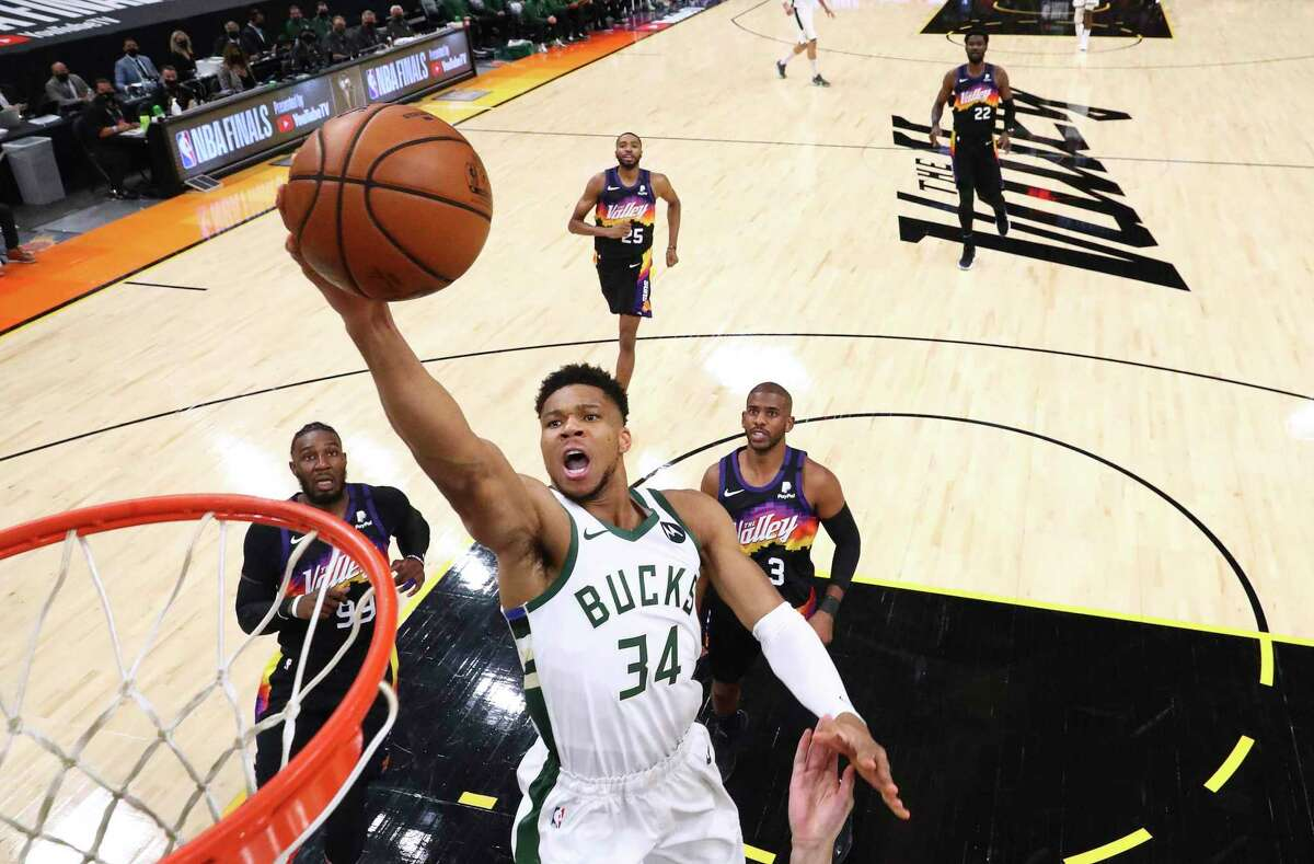 Giannis Antetokounmpo and the Bucks will try to close the gap against the Suns when the teams meet in Game 3 of the NBA Finals -which Phoenix leads 2-0 - in Milwaukee at 5 p.m. Sunday. Channel: 7Channel: 10