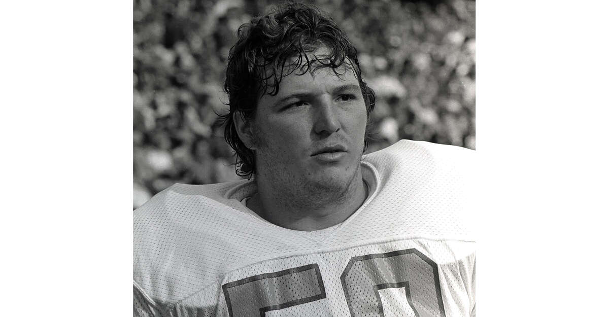 Offensive lineman David Carter #58 of the Houston Oilers looks on from the sideline during a game against the Pittsburgh Steelers at Three Rivers Stadium on October 23, 1977 in Pittsburgh, Pennsylvania. (Photo by George Gojkovich/Getty Images)