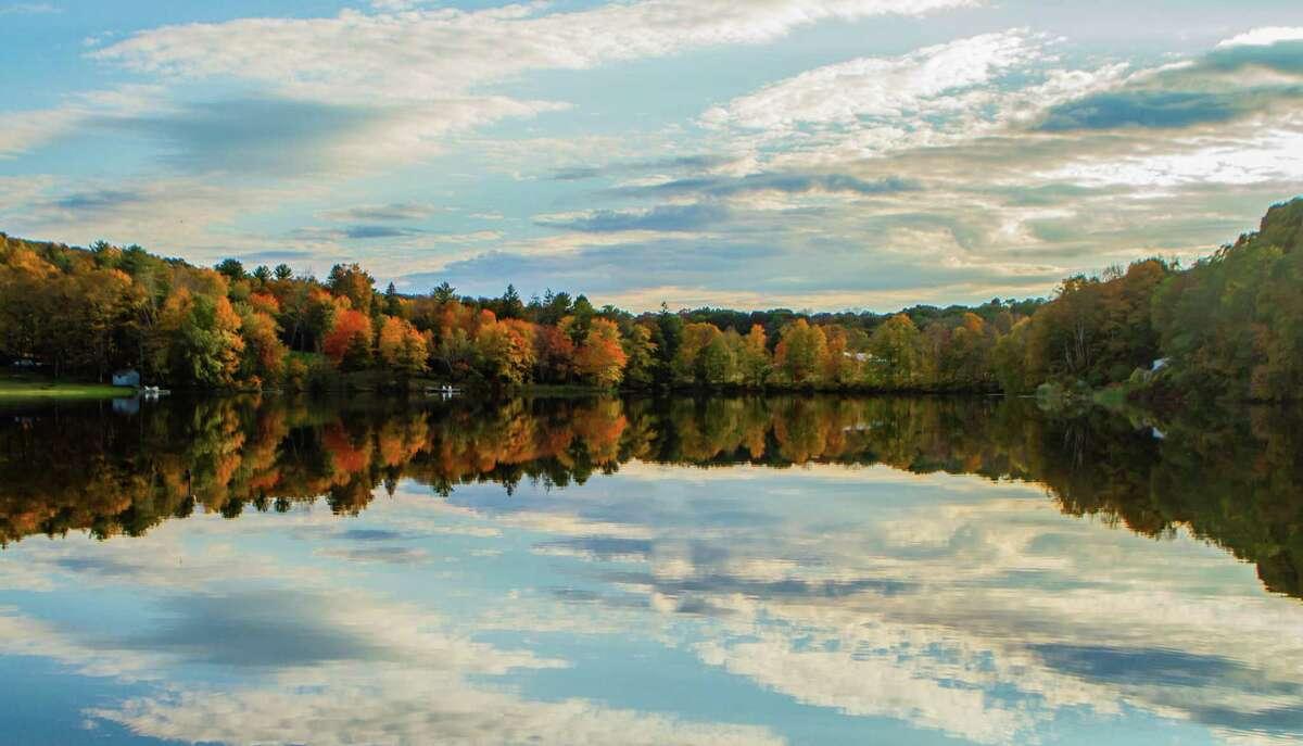 """Autumn Lake"" photograph by Cynthia O'Connor."