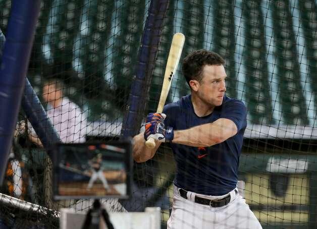 Houston Astros third baseman Alex Bregman (2) participates in batting practice before an MLB game against the New York Yankeesat Minute Maid Park on Saturday, July 10, 2021, in Houston. Photo: Godofredo A Vásquez/Staff Photographer / © 2021 Houston Chronicle