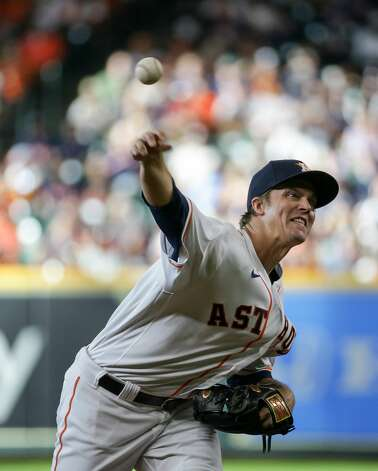 Houston Astros starting pitcher Zack Greinke (21) throws against the New York Yankees during the first inning of an MLB game at Minute Maid Park on Saturday, July 10, 2021, in Houston. Photo: Godofredo A Vásquez/Staff Photographer / © 2021 Houston Chronicle