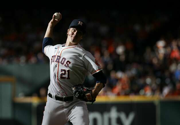 Houston Astros starting pitcher Zack Greinke (21) throws against the New York Yankees during the second inning of an MLB game at Minute Maid Park on Saturday, July 10, 2021, in Houston. Photo: Godofredo A Vásquez/Staff Photographer / © 2021 Houston Chronicle