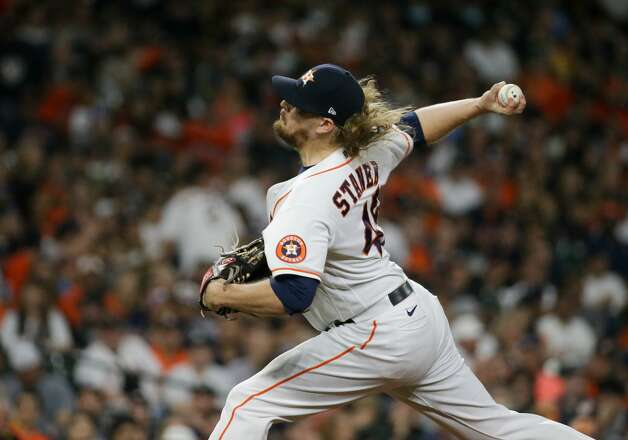 Houston Astros relief pitcher Ryne Stanek (45) throws against the New York Yankees during the eighth inning of an MLB game at Minute Maid Park on Saturday, July 10, 2021, in Houston. Photo: Godofredo A Vásquez/Staff Photographer / © 2021 Houston Chronicle